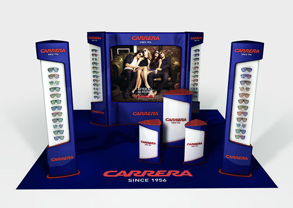 Exagon Design Display Promotional Area Carrera