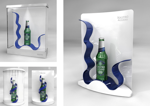 Exagon Design Display Showcase Nastro Azzurro