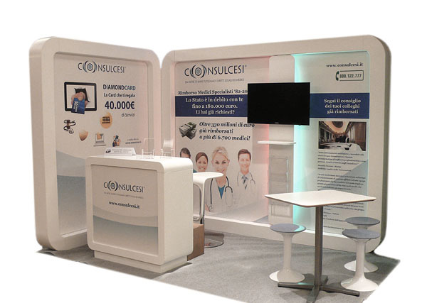 Exagon Design Display Stand Consulcesi