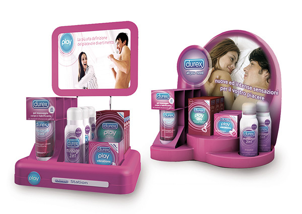 Exagon Design Display Desk Thermoforming Durex