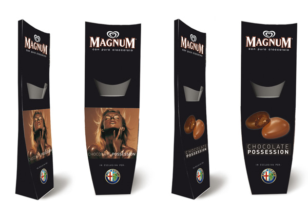 Exagon Design Display Totem Algida Magnu Alfa Romeo
