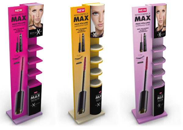 Exagon Design DisplayTotem Stand Floor Maxfactor