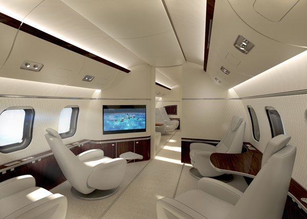 Exagon Design Interior Airplane AcusticSystem