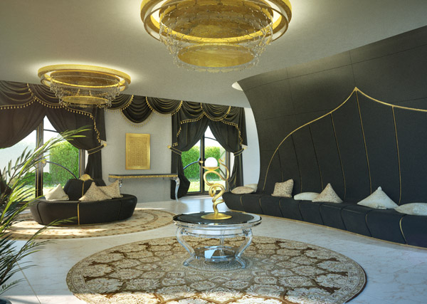Exagon Design Interior Luxury Ambassy Kuwait