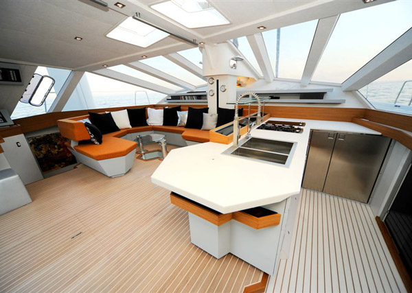 Exagon Design Interior Yachts Diamante555 Dinette