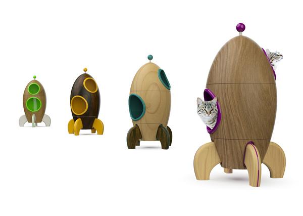 Exagon Design Product Cat Basket Pet Rocket