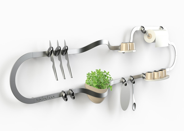 Exagon Design Product Siderplast Kitchen Rail Accessories