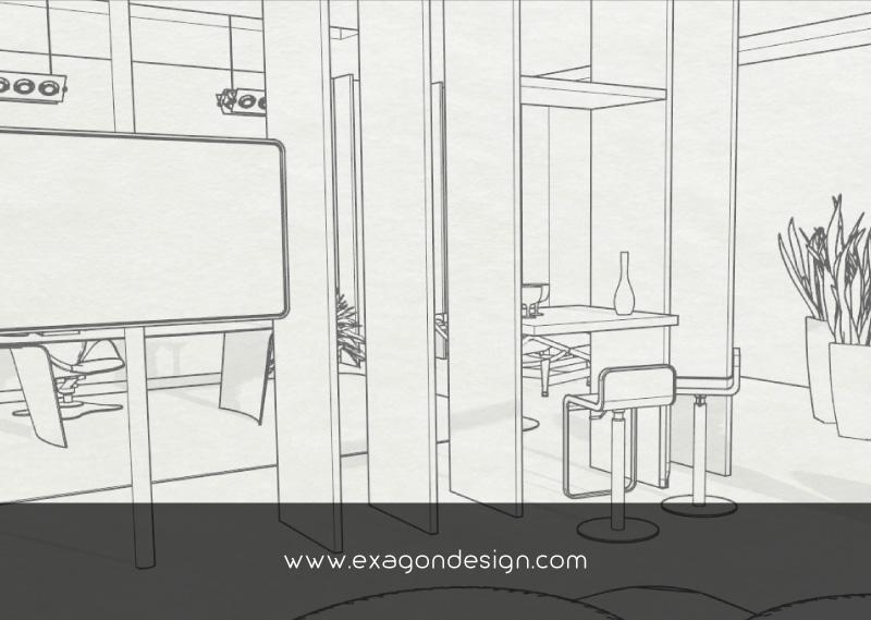 Luxury-Office-Design-Desk-Drawing