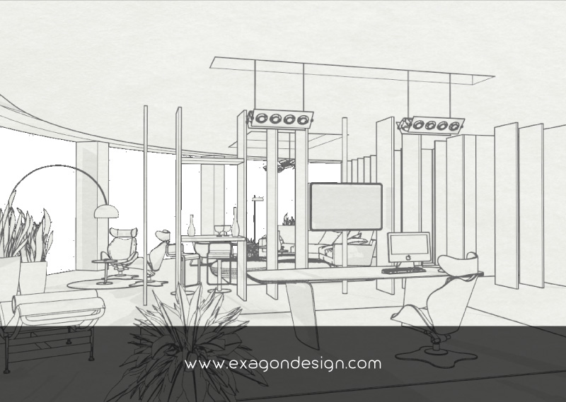 Luxury-Office-Design-Desk-Sketch