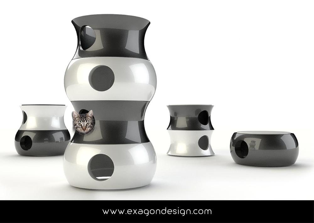 Pet-funny-cat-accessories-exagon-design_04