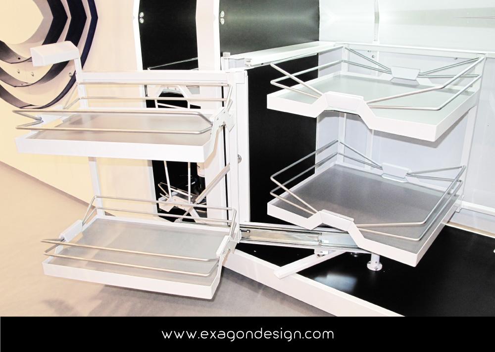 Accessori Cucina Moderna.Siderplast Accessori Cesti Cucina Moderna Exagon Design 04
