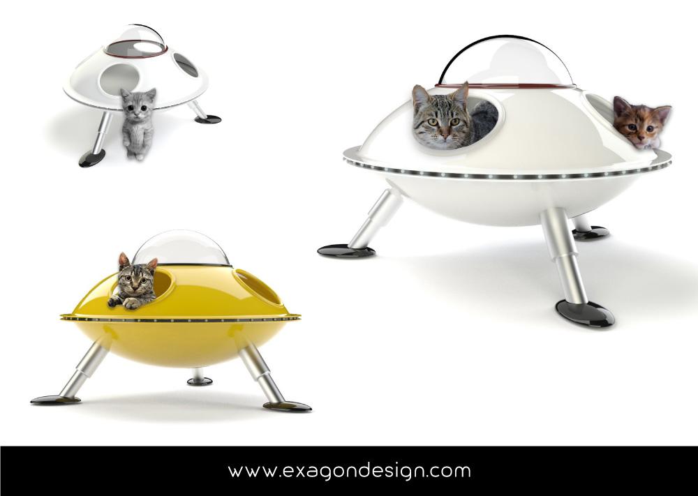 Pet-Design-cuccia-per-gatti-ufo-exagon-design_02