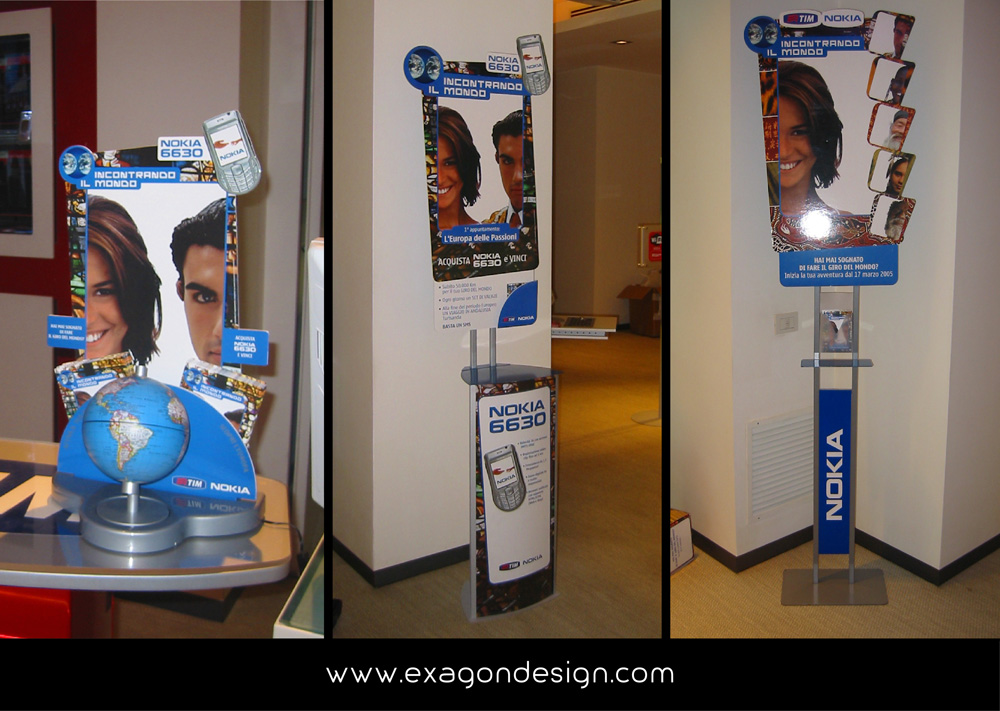 Area Totem Promo Nokia Exagon Design