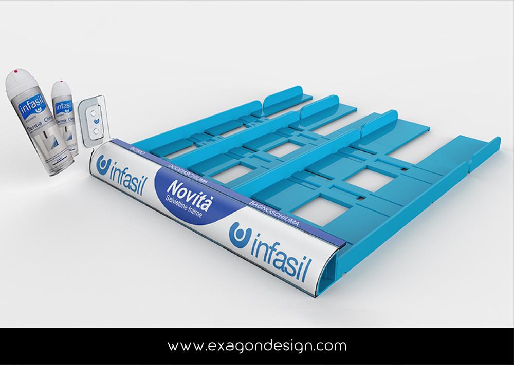 Shelf Tray Infasil Unilever Exagon Design