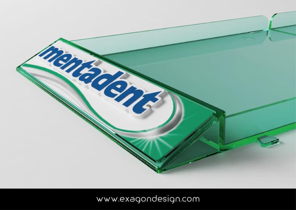 Shelf Tray Mentadent Exagon Design