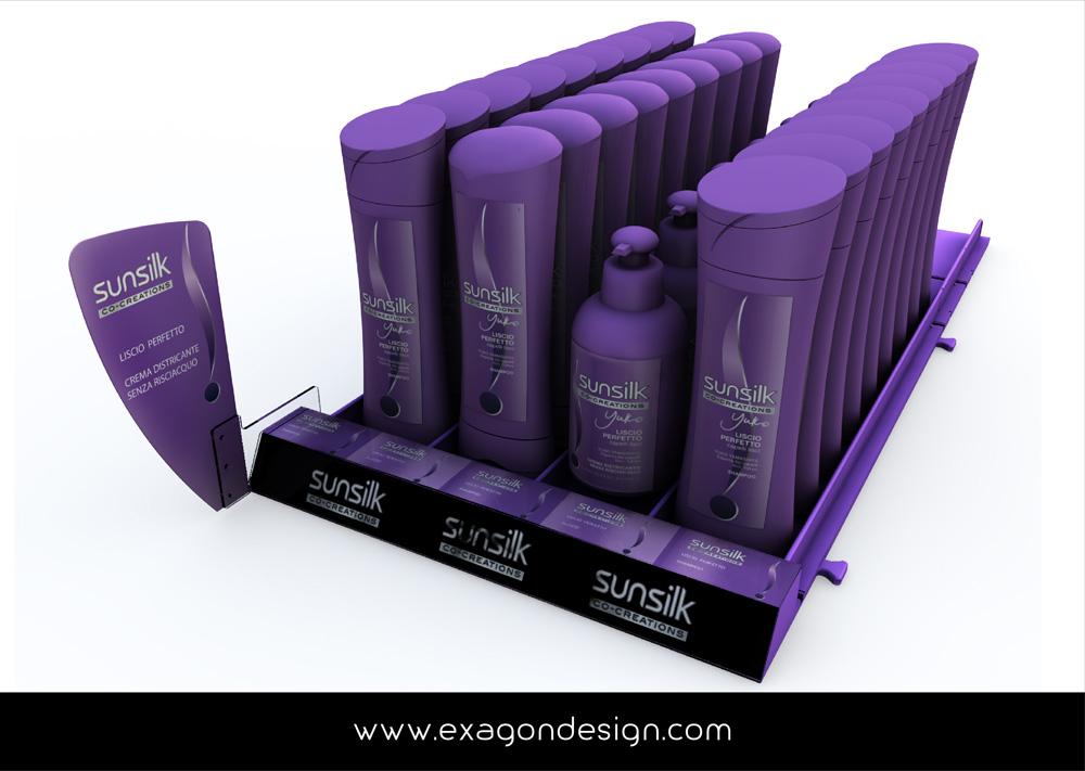 Shelf Tray Sunsilk Unilever Exagon Design
