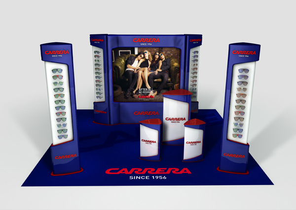 Stand Carrera Exagon Design