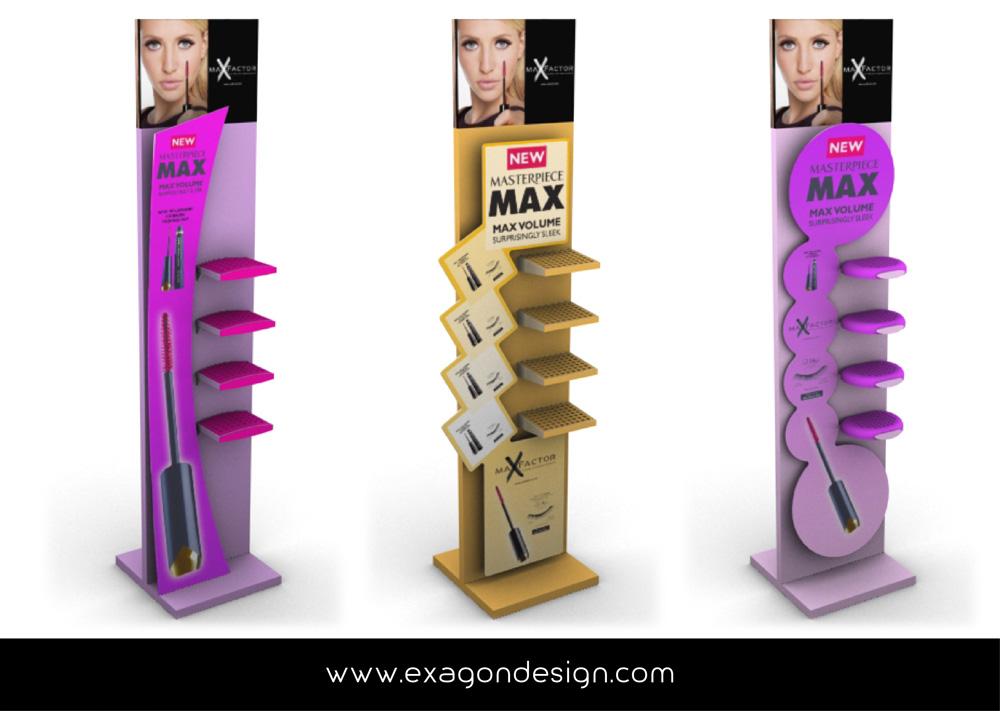 Espositore_Da_Terra_Satnd_Floor_Maxfactor_procter&gamble_Exagon_Design-01