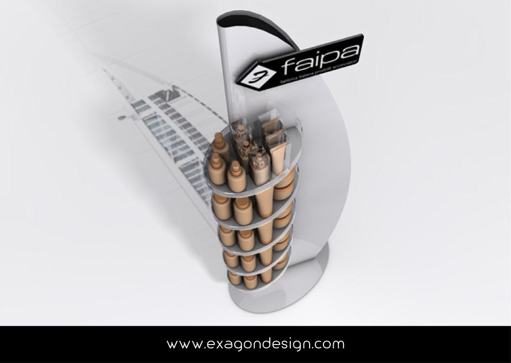 Espositore_Da_Terra_Stand_Floor_Faipa_Exagon_Design-01