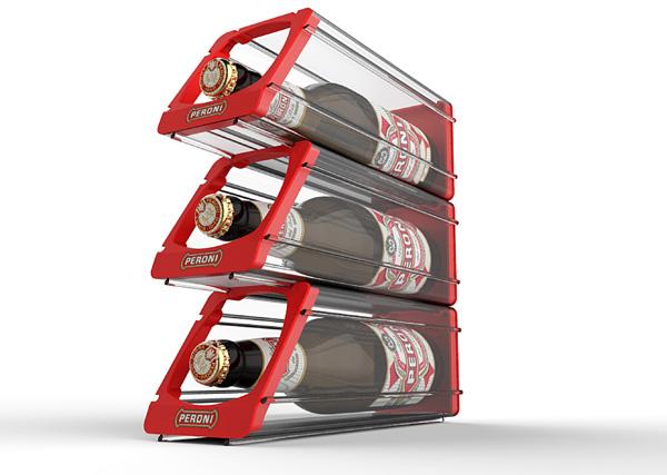 Porta_bottiglie_modulare_Peroni_exagon_design_00