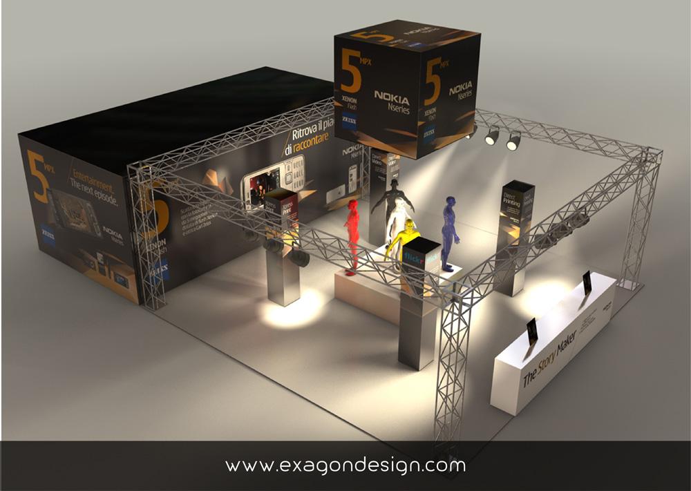 Stand_Fieristico_Nokia_Exagon_Design_02-01
