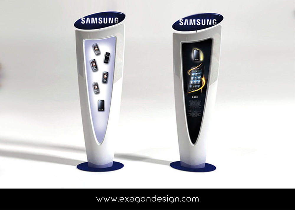 Totem_Promozionale_Showcase_Dispaly_Samsung_Exagon_Design-01