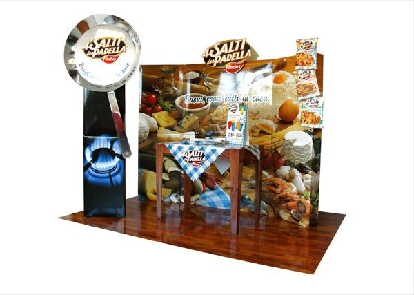 isola_promozionale_promotional_stand_unilever_4_Salti_In_Padella_exagon_design_01