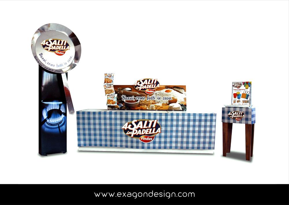 isola_promozionale_promotional_stand_unilever_4_Salti_In_Padella_exagon_design_02